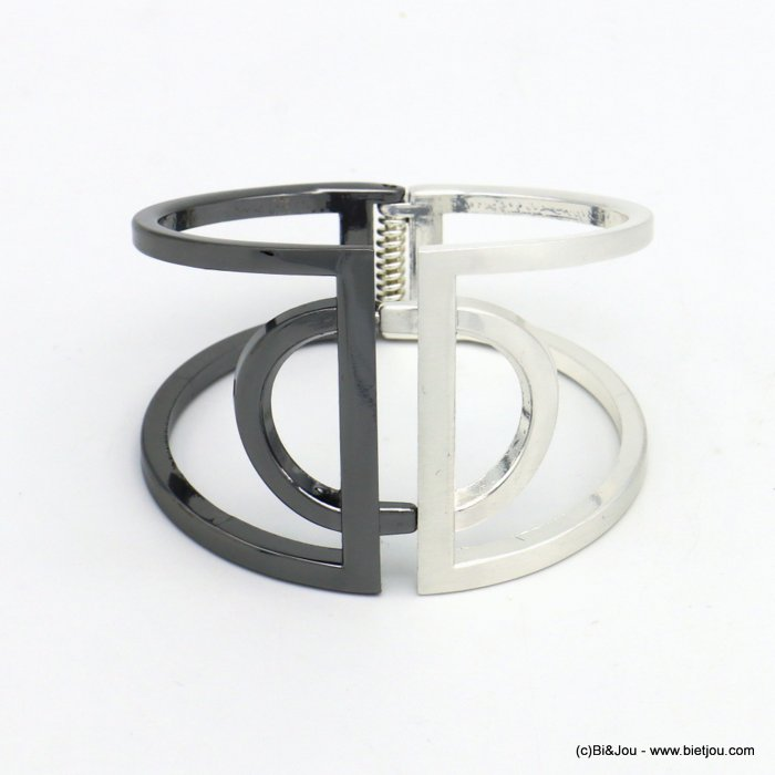 bracelet 0219552-20 openable two-coloured metal 47x67mm