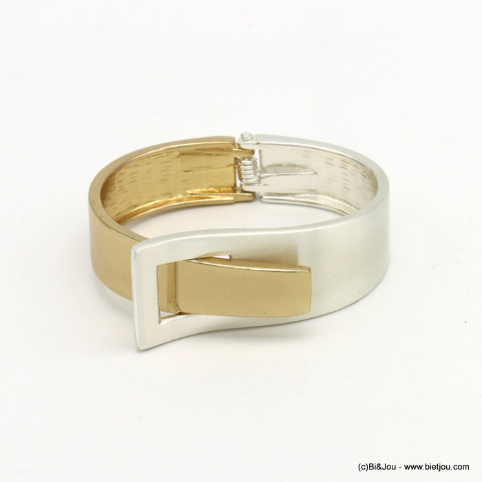bracelet 0219556-14 openable two-coloured metal 23x65mm