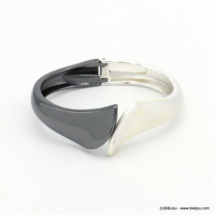 bracelet 0219557-20 openable two-coloured metal 24x67mm