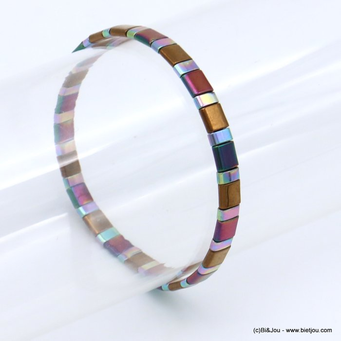 bracelet 0219564-99 elastic tila miyuki rectangle beads 5mm