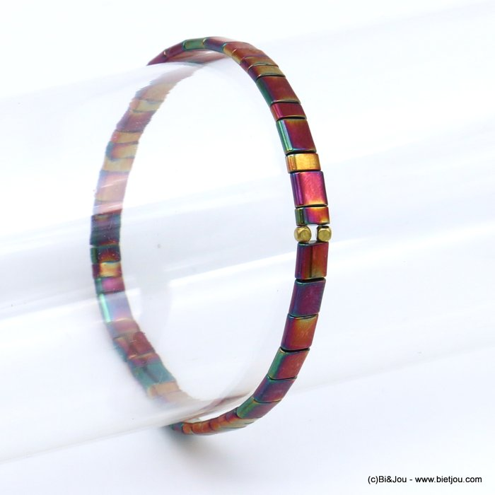 bracelet 0219568-04 elastic tila miyuki rectangle beads 5mm