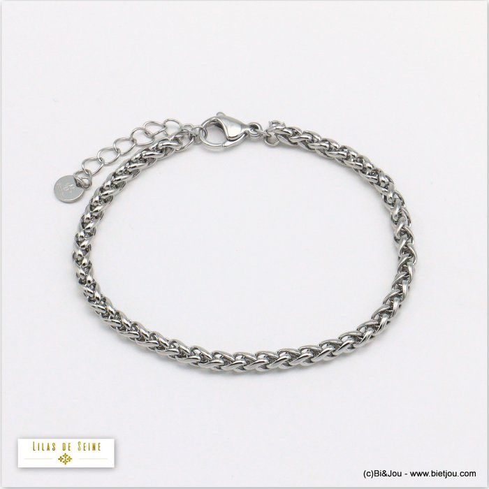 bracelet 0220010-13 stainless steel palm link chain woman 4mm