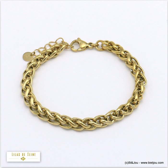 bracelet 0220010-14 stainless steel palm link chain woman 6mm