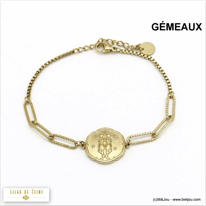 bracelet 0220025-14 constellation zodiac signs stainless steel