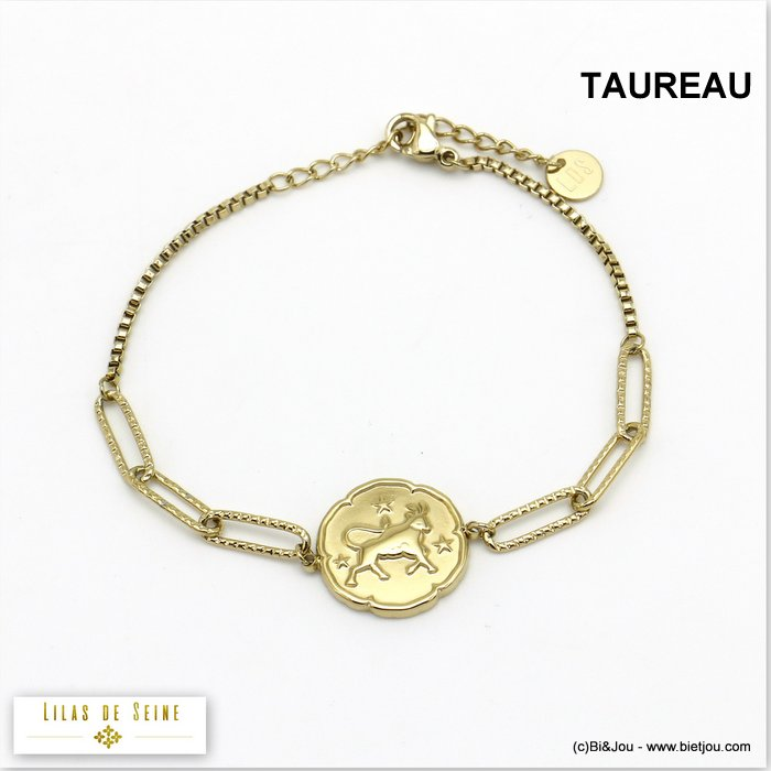 bracelet 0220027-14 constellation zodiac signs stainless steel