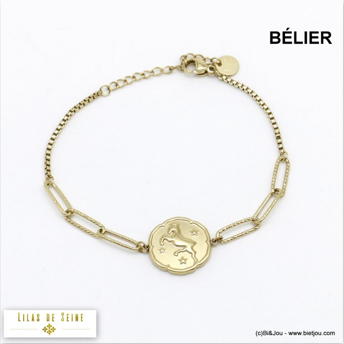 bracelet 0220029-14 constellation zodiac signs stainless steel