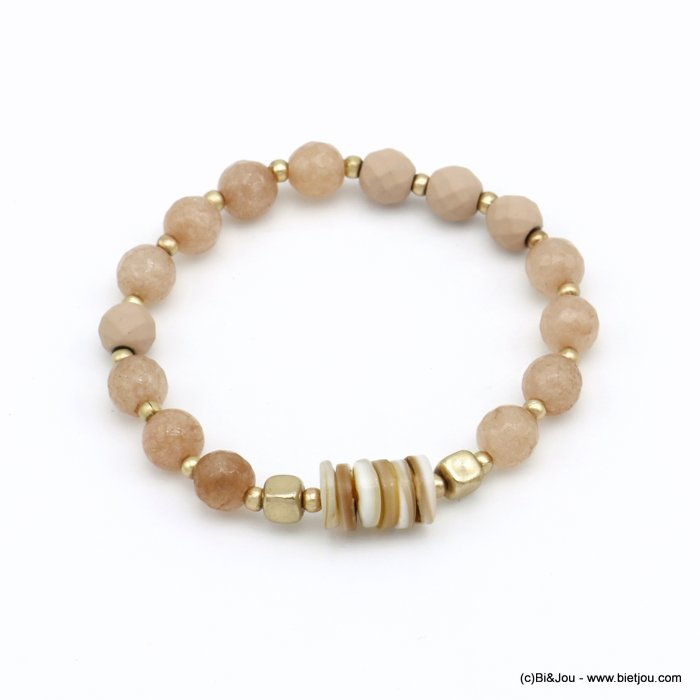 bracelet 0220090-18 elastic metal-shell-reconstituted stone