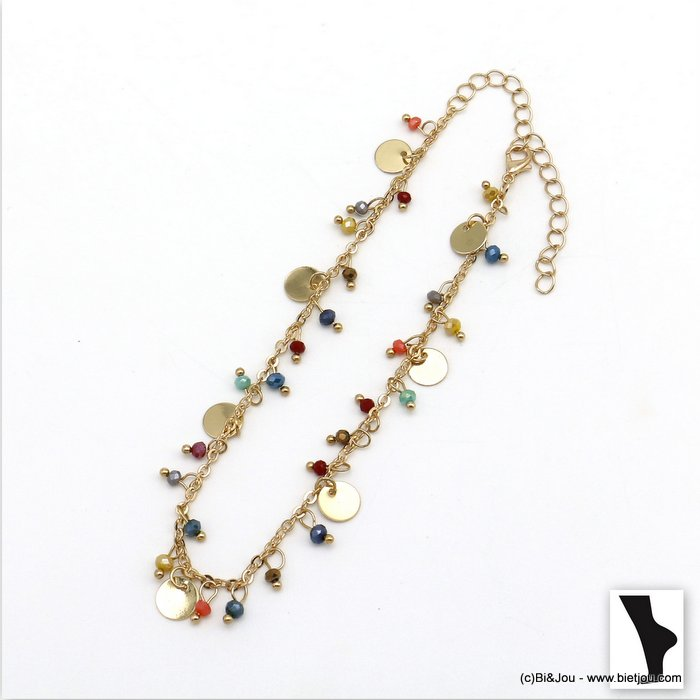 anklet 0220103-99 crystal-metal