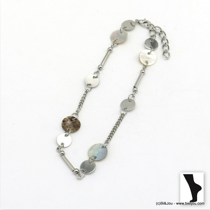 anklet 0220104-13 shell-metal