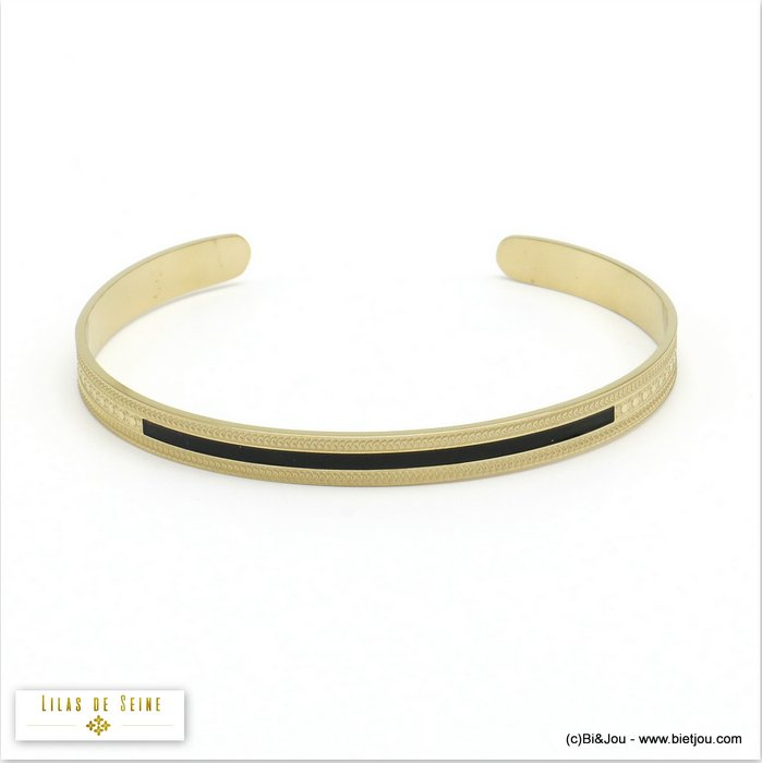 bracelet 0220525-01 open bangle stainless steel enamel woman 5x60mm