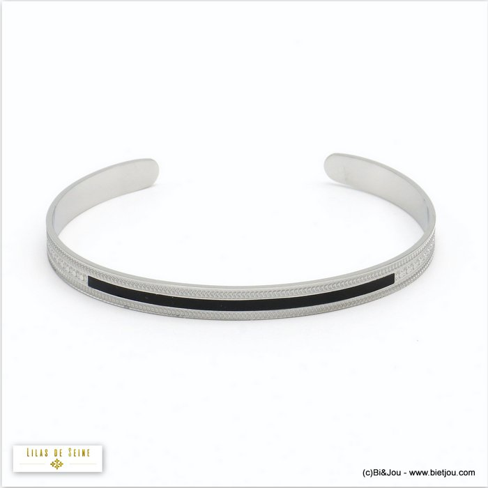 bracelet 0220525-13 open bangle stainless steel enamel woman 5x60mm