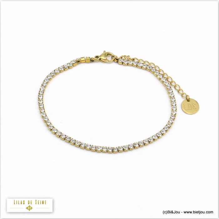 bracelet 0220548-14 stainless steel strass woman 2mm