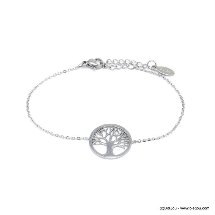 bracelet 0220560-13 tree of life stainless steel