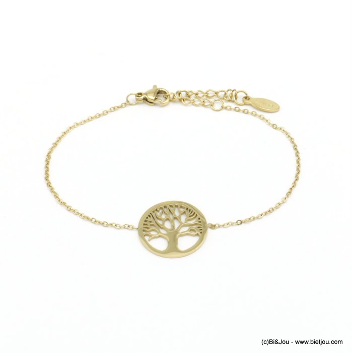 bracelet 0220560-14 tree of life stainless steel