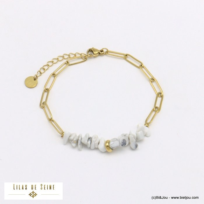 bracelet 0221013-19 natural stone stainless steel woman