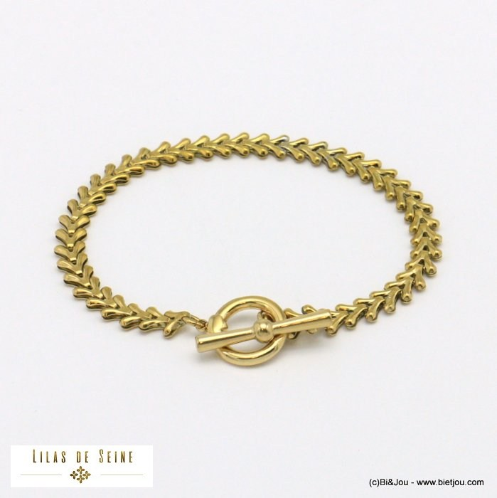 bracelet 0221017-14 toogle clasp stainless steel woman