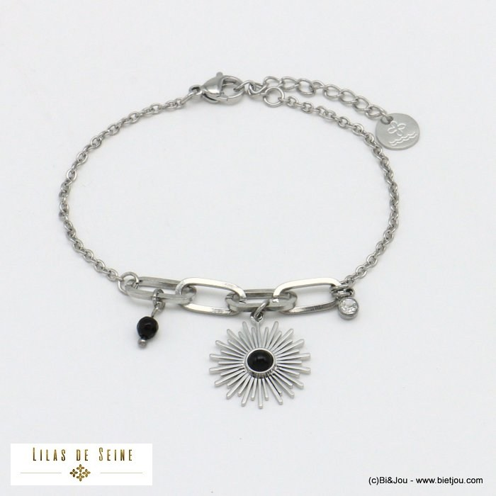 bracelet 0221018-01 sun natural stone stainless steel woman