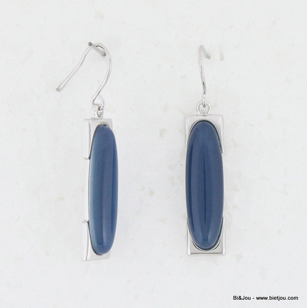"earrings 0313502-09 ""cat's eye"" 8x30mm metal-glass"
