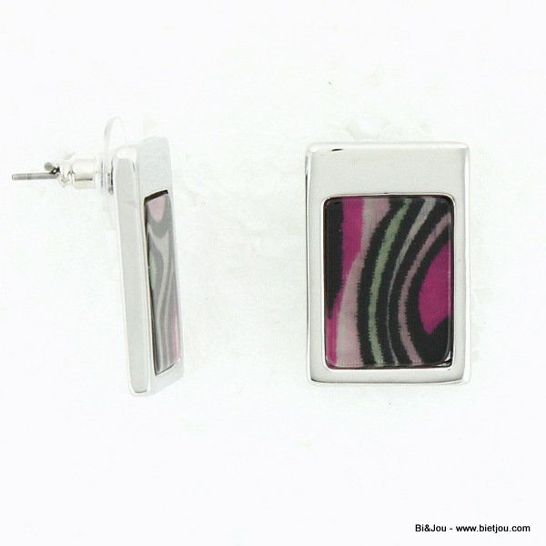 earrings 0313529-34 16x24mm metal-resin
