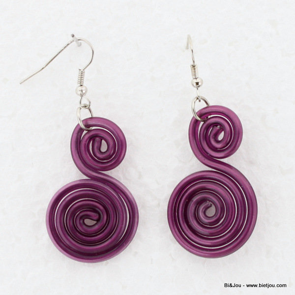 earrings 0313562-04 25x60mm metal-silicone