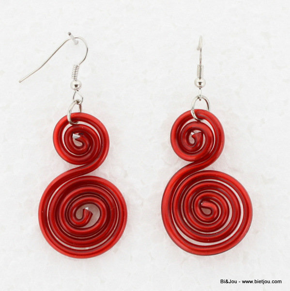 earrings 0313562-12 25x60mm metal-silicone
