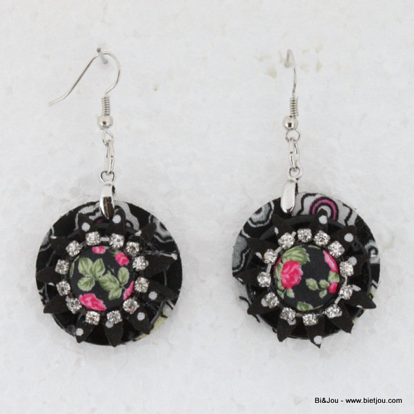 earrings 0314505-01 29mm polyester-shell-strass-metal