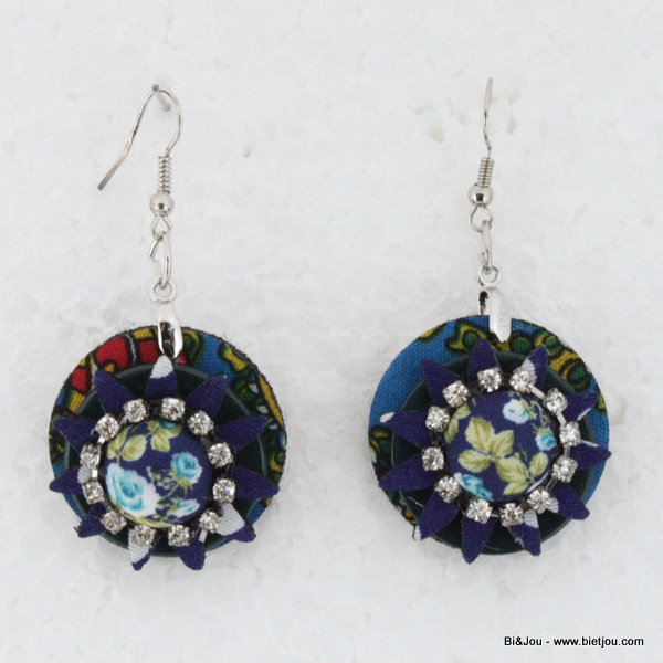 earrings 0314505-07 29mm polyester-shell-strass-metal
