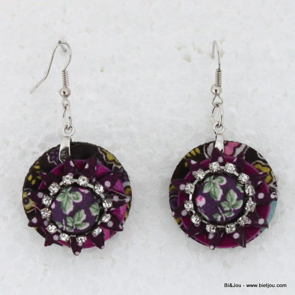 earrings 0314505-34 29mm polyester-shell-strass-metal