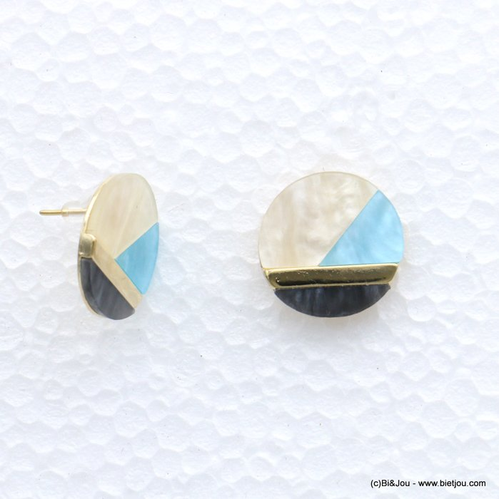 earrings 0317549-08 22mm resin-metal