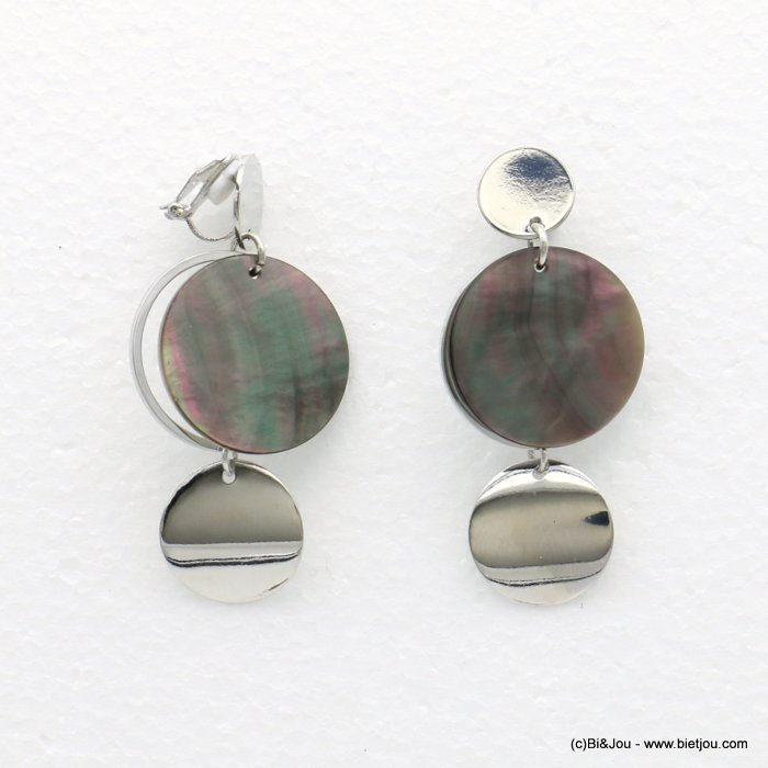 earrings 0318562-13 20x57mm metal-shell