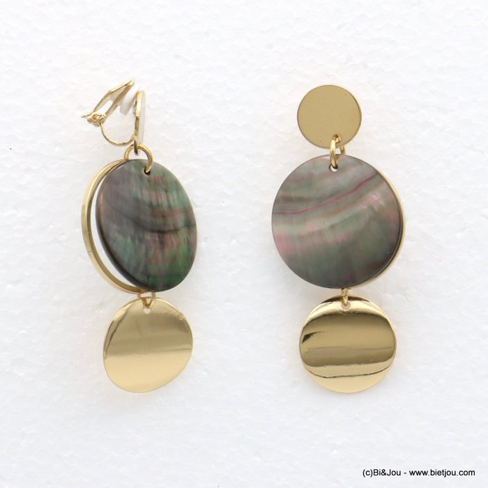 earrings 0318562-14 20x57mm metal-shell