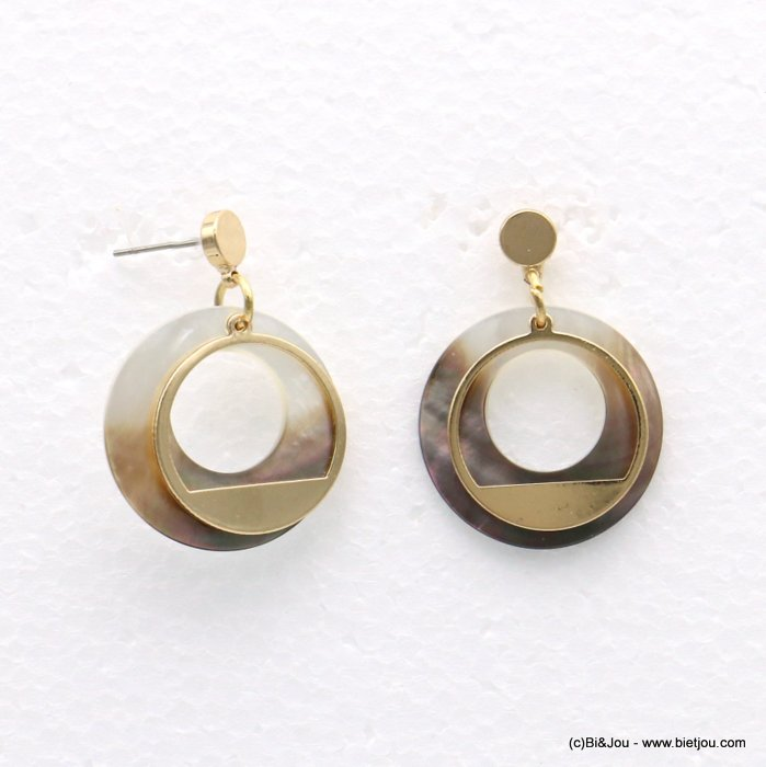 earrings 0318566-14 25x35mm metal-shell