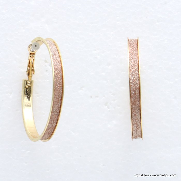 earrings 0318630-14 creole nail clasp 5x49mm glitter metal