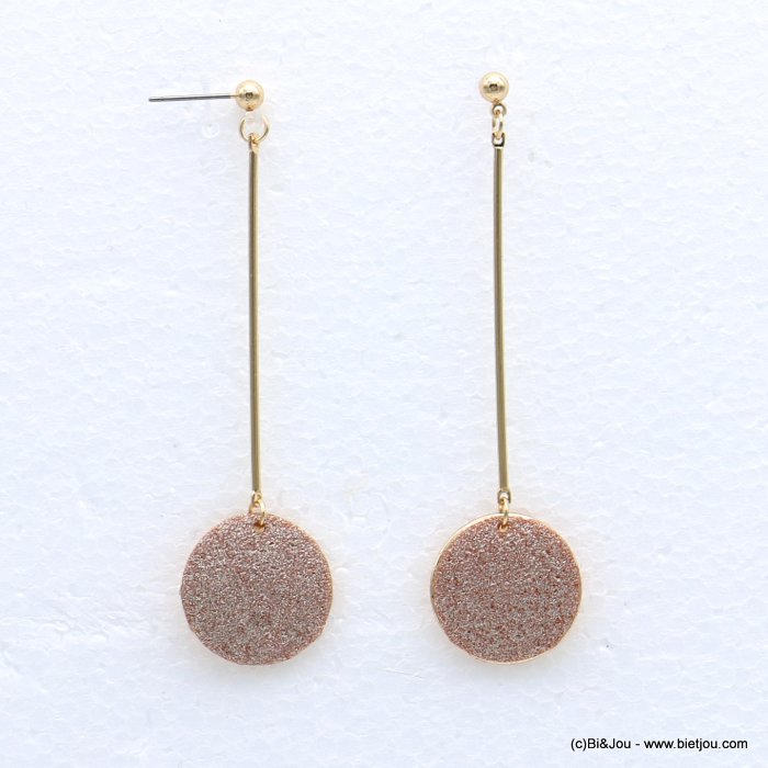 earrings 0318632-14 glitter metal 2x79mm