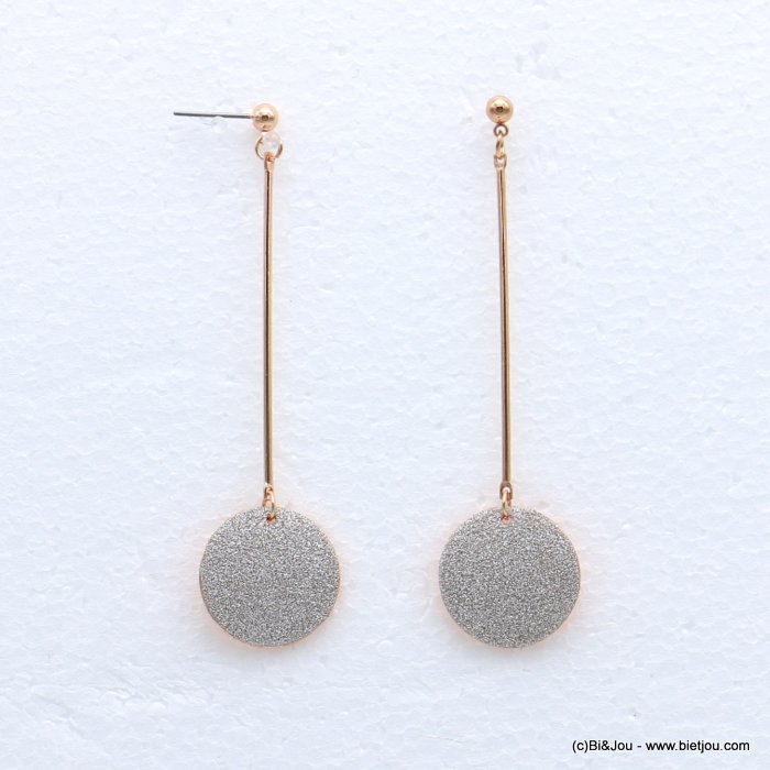 earrings 0318632-23 glitter metal 2x79mm