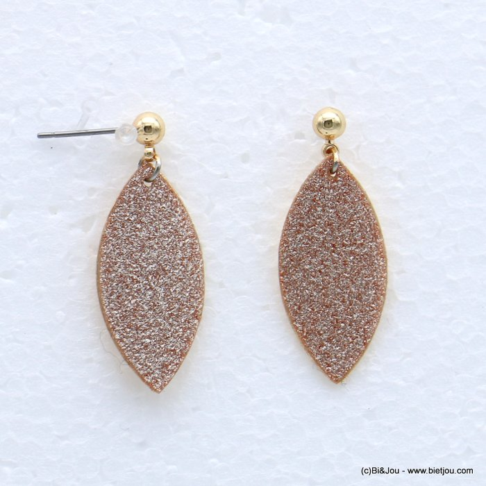earrings 0318633-14 glitter metal 13x32mm