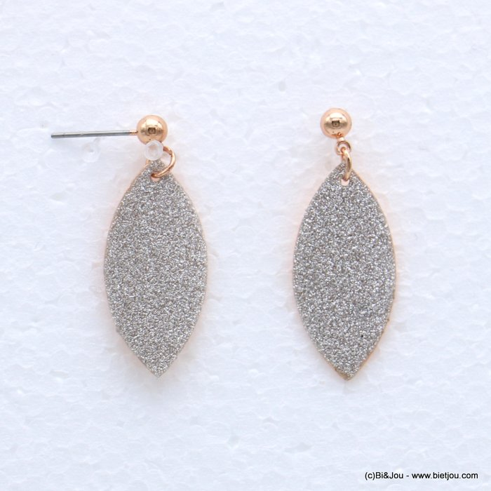 earrings 0318633-23 glitter metal 13x32mm