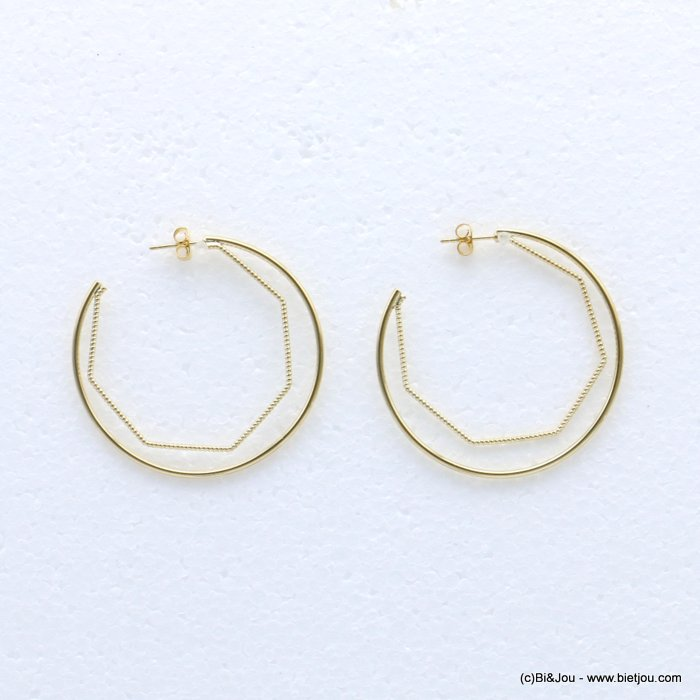 earrings 0318662-14 creole metal nail clasp 48mm