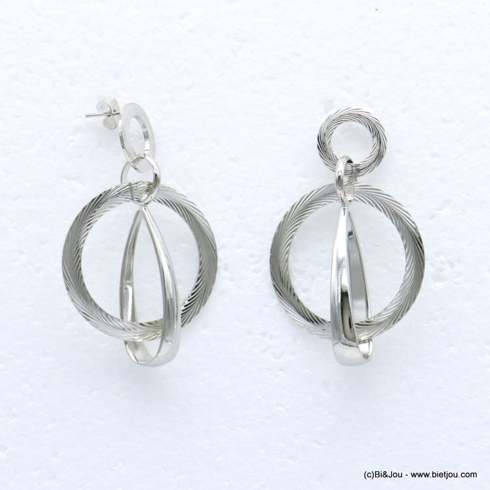 earrings 0318664-13 metal nail clasp 32x53mm