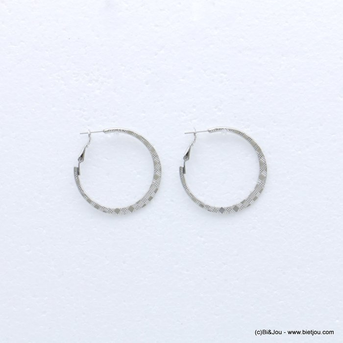 earrings 0318671-13 creole metal nail clasp 39mm