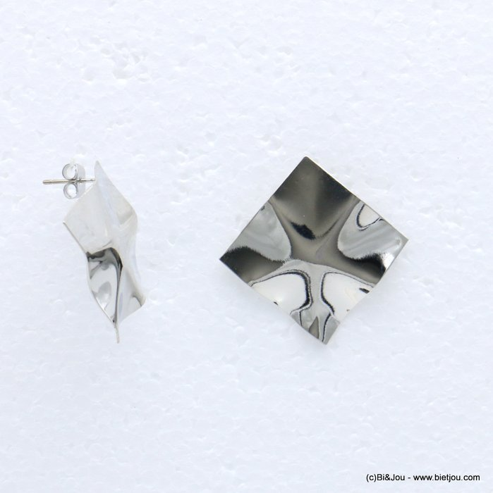 earrings 0318675-13 metal nail clasp 34x34mm