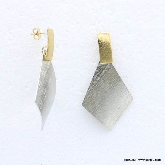 earrings 0318677-13 metal nail clasp 26x51mm