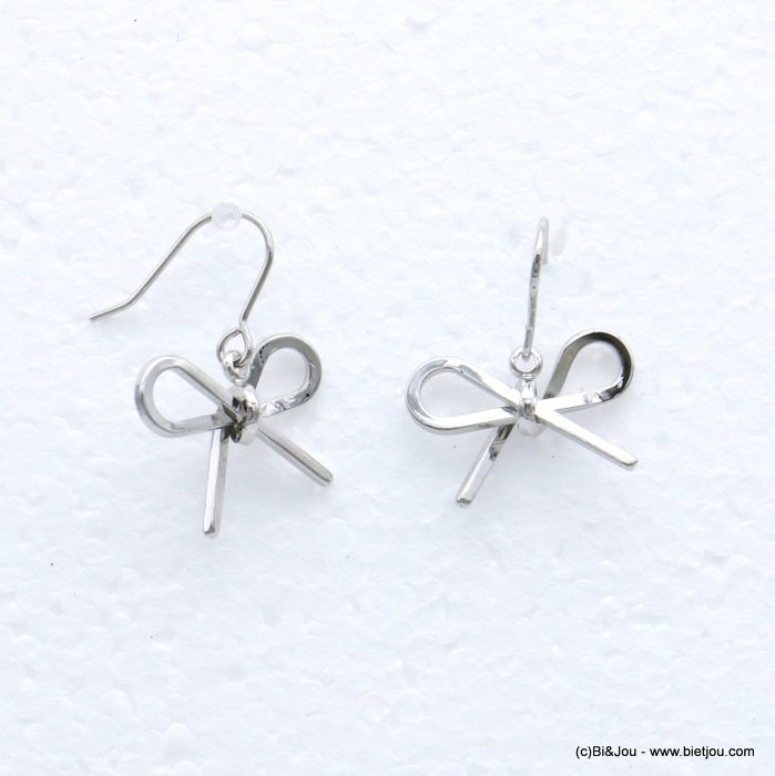 earrings 0318682-13 bowknot metal fish hook clasp 19x25mm