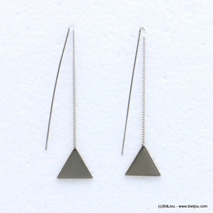 earrings 0318684-13 threader 14x63mm metal