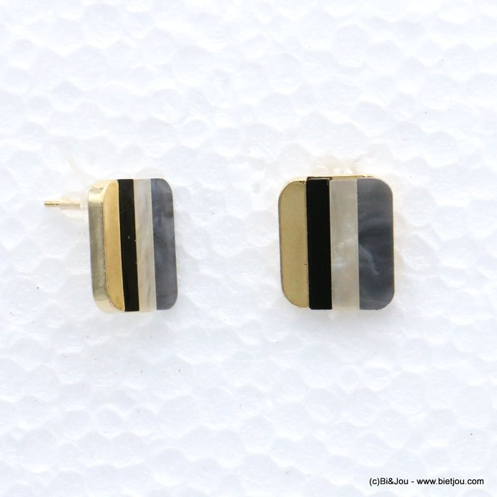 earrings 0319069-01 nail clasp resin-metal 21x18mm