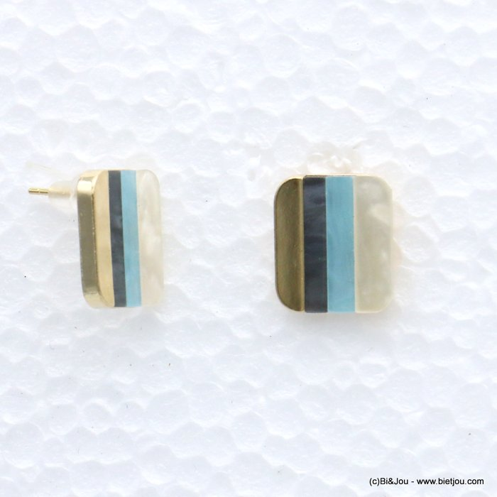 earrings 0319069-08 nail clasp resin-metal 21x18mm