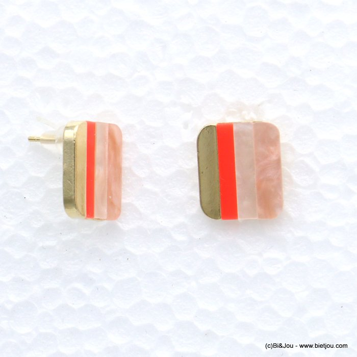 earrings 0319069-18 nail clasp resin-metal 21x18mm