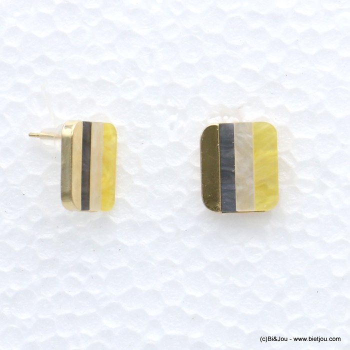 earrings 0319069-43 nail clasp resin-metal 21x18m