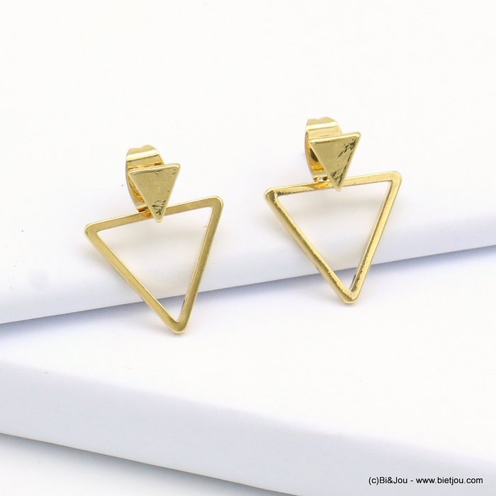 earrings 0319124-14 triangle nail clasp metal 14x16mm