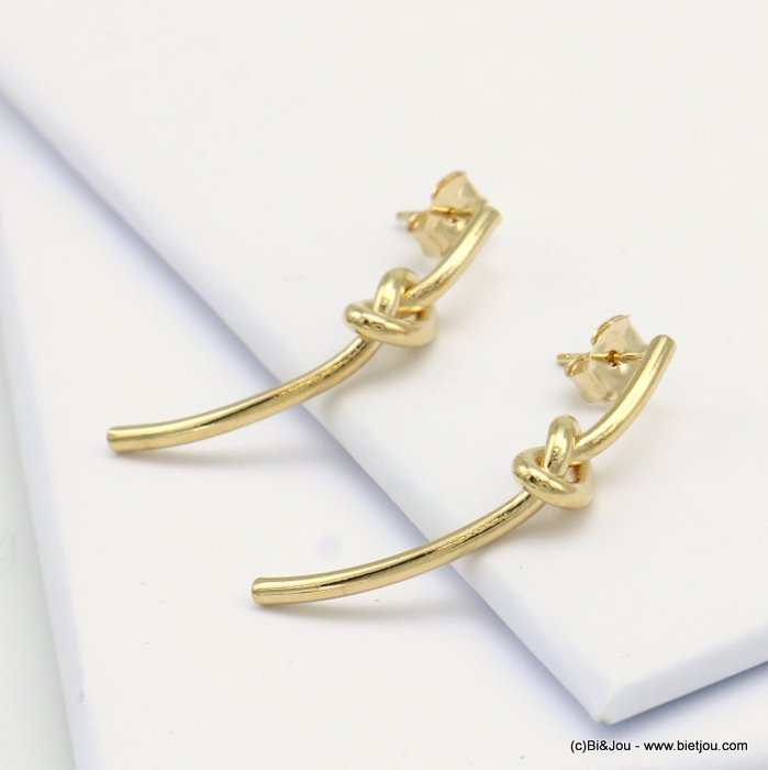 earrings 0319127-14 nail clasp metal 5x35mm